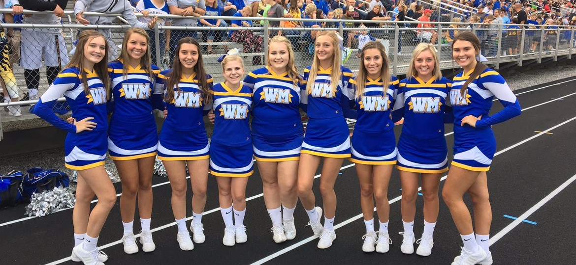 West M Cheerleaders