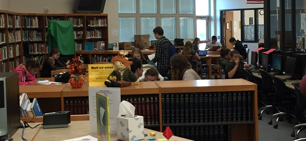 High School Library in Action