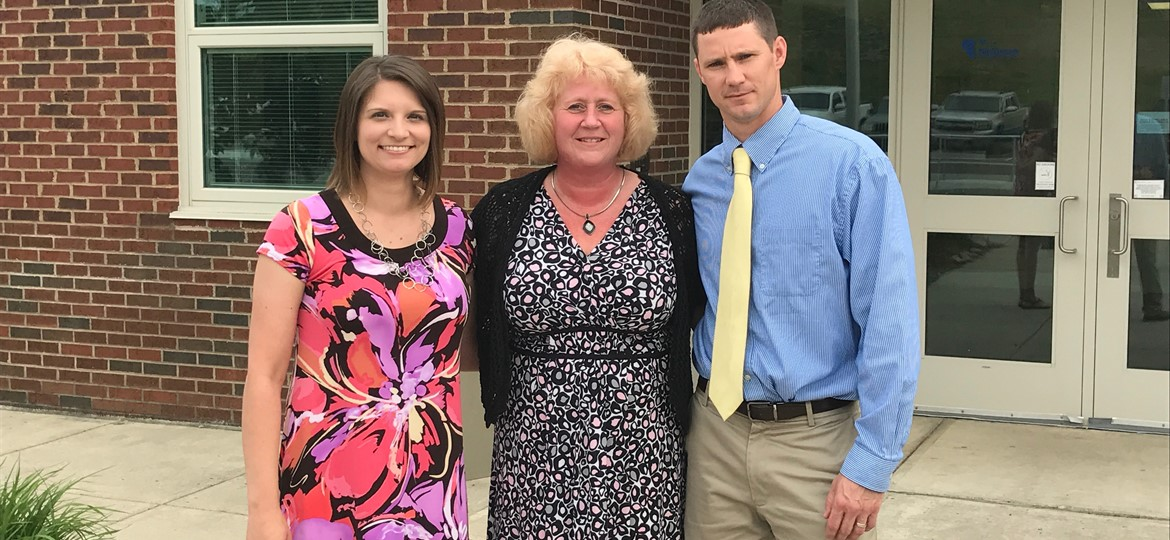 West Muskingum Local School's Teachers of the Year, Mrs. Tomplait, Mrs Smith, Mr. Foltz